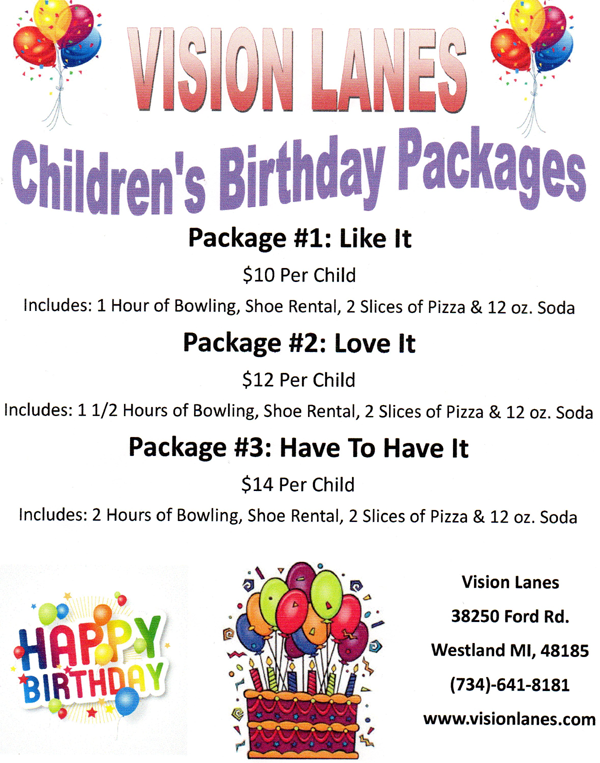 childrens party packages